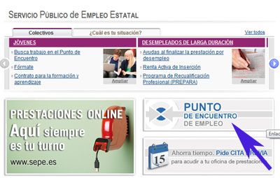 Como registrarse en el buscador de empleo del sepe cita inem for Cita oficina virtual de empleo